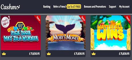 Cashmo Casino Online Games