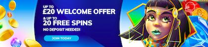 free spins signup bonus