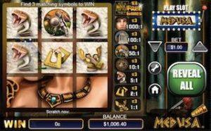 Medusa Free Online Casino Scratch Card