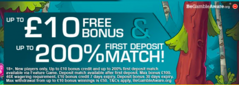 pocketwin signup bonus and deposit match welcome